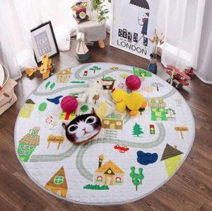 Estera acolchada de juegos para niños