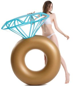Colchoneta hinchable en forma de anillo