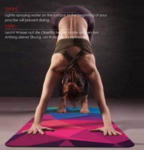 Colchoneta para ejercicios delgada con motivo