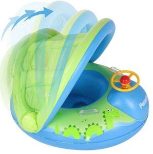 Flotador colchoneta para niños cubierto