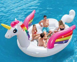 Flotador gigante de unicornio para varias personas